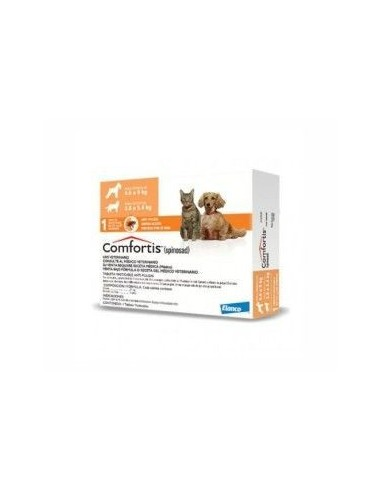 Comfortis perros 4.6 a 9kg / gatos 2.8 a 5.4kg